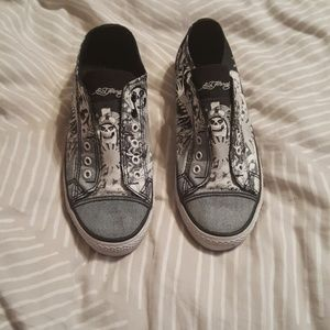 Ed Hardy size 8 shoes perfect condition